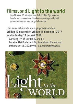 Filmavond Amersfoort Light to the World